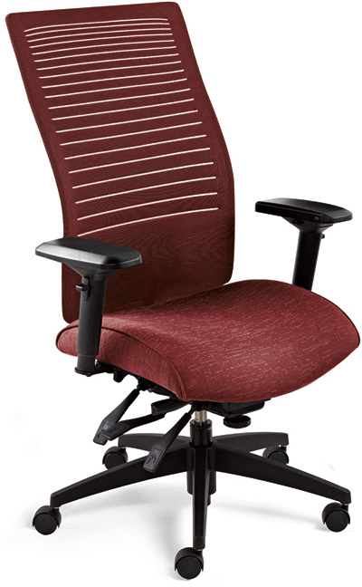 Global Loover 2661 3 High Back Task Chair Track Office Furniture