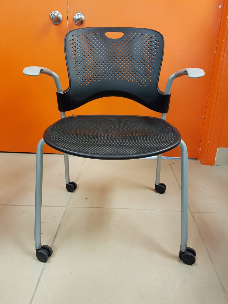 Herman Miller Caper Stacking Chair Black Track Office