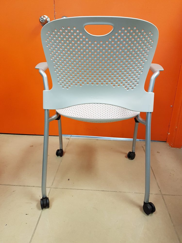 Herman Miller Caper Stacking Chair White Track Office