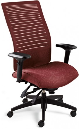 Global, Loover Chair, 2661-3, in red tilted to the right for full viewability against a white background.