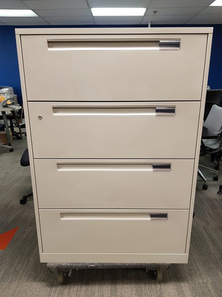 Steelcase 4 Drawer Lateral Files Track Office Furniture